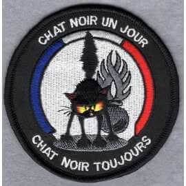 Ecusson super chat noir