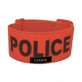 Brassard Police fluo orange