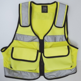 Gilet intervention jaune fluo